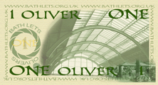ONE OLIVER - back of printed note