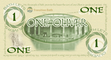 ONE OLIVER - front of printed note