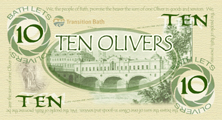 TEN OLIVERS - front of printed note
